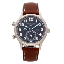 Patek Philippe Travel Time White gold 42mm Blue Arabic numerals United States of America, Pennsylvania, Bala Cynwyd