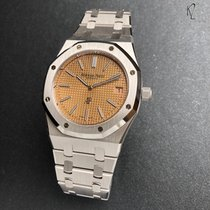 Audemars Piguet White gold Automatic Pink No numerals 39mm new Royal Oak Jumbo