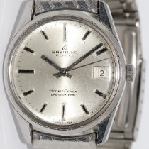 Breitling Stahl Automatik Silber 34mm gebraucht Transocean Chronograph