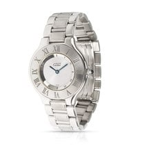 Cartier 21 Must de Cartier Steel 31mm Silver Roman numerals United States of America, New York, New York