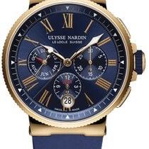 Ulysse Nardin Marine Chronograph Rose gold 43mm Blue United States of America, New York, Airmont