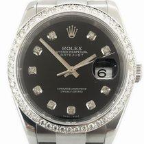 Rolex Datejust Black Diamonds Dial Aftermarket Box/Papers
