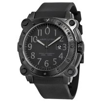 Hamilton Khaki Navy Belowzero Automatic Rubber Strap Black...