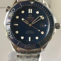 Omega Mens Seamaster Diver 300M blue ceramic bezel steel