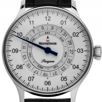 Meistersinger Steel Automatic White Arabic numerals 40mm new Pangaea Day Date
