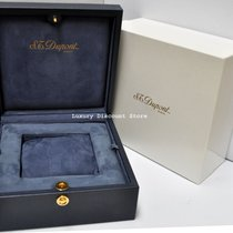 S.T. Dupont Paris Blue Original Watch Box only Gold Navy...