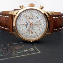 Breitling Transocean Chronograph Oro rosado 43mm Plata Sin cifras España, Barcelona