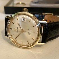 Omega Seamaster De Ville mechanical 14K solid gold mens watch