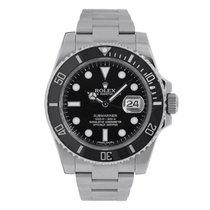 Rolex SUBMARINER Stainless Steel Black Ceramic Watch 116610
