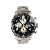 Zeno-Watch Basel Chronograph 42mm Automatik gebraucht Schwarz