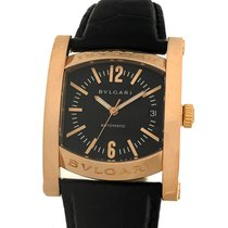 Bulgari Rose gold Automatic Black 44mm pre-owned Assioma