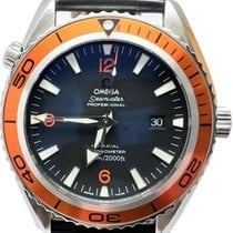 Omega Seamaster Planet Ocean Acero 45.5mm Negro Sin cifras