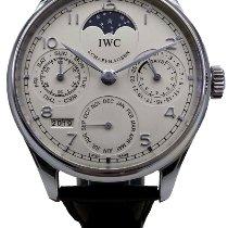 IWC Сталь Автоподзавод Белый Aрабские подержанные Portuguese Perpetual Calendar