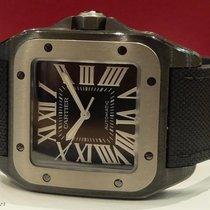 Cartier Carbon Automatic Black Roman numerals 51mm pre-owned Santos 100