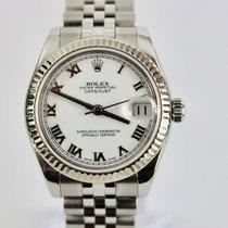 Rolex Lady-Datejust Or/Acier 31mm Blanc Romain