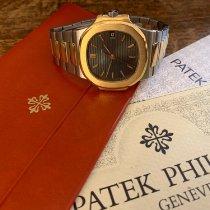 Patek Philippe Nautilus Zlato/Zeljezo 37mm Plav-modar Bez brojeva