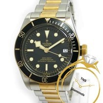 Tudor Automatic Black 41mm pre-owned Black Bay S&G