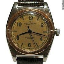Rolex Bubble Back tweedehands 32mmmm Goud/Staal