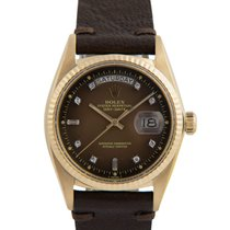 Rolex 18k Day-Date, Brown Degrade Stella Diamond Dial, Ref: 1803