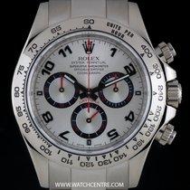 Rolex White Gold Racing Dial 24 Heures Du Mans Daytona B&P...