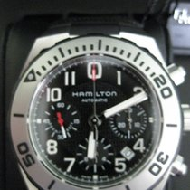 Hamilton Steel Automatic Black Arabic numerals 43mm new Khaki Navy Sub