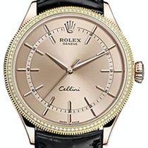 Rolex Cellini Time 50605RBR-0011 Pink Index Diamond Bezel Rose...
