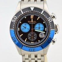 Breil Milano Black & Blue Bezel Chronograph Swiss Quartz...
