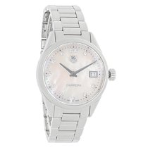 TAG Heuer Carrera Ladies MOP Diamond Quartz Watch WAR1314.BA0773