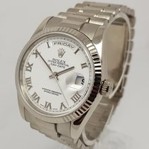 Rolex Day-Date Mens 36mm 18K White Gold Presidents Watch