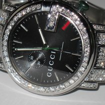 509ebcf4ac2 Gucci 101G Stainless Steel Diamonds