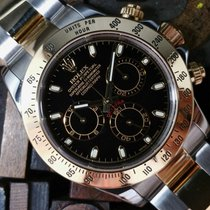 Rolex Cosmograph Daytona Steel & Gold Black Dial