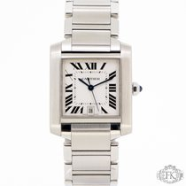 Cartier Tank Francaise Large Model Stainless Steel W51002Q