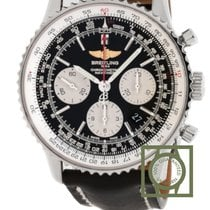 Breitling Navitimer 01 Steel Case Black Dial Black Leather...