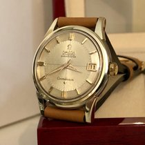 Omega Constellation Crosshair pie pan dial gold men's watch + Box