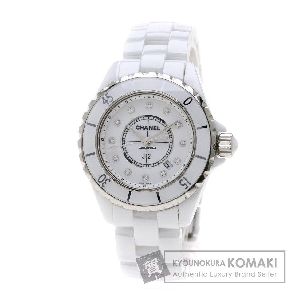 b59ec0400cbe Продаются часы Chanel シャネル H1628 J12 33 12Pダイヤモンド 腕時計 セラミック/セラミック レディース 【中古】...  за 237 430 ₽ - Seller на Chrono24