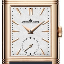 Jaeger-LeCoultre Reverso Duoface Rose gold 42.9mm Silver No numerals