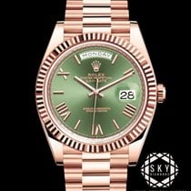 Rolex Day-Date 40 Ouro rosa 40mm Verde