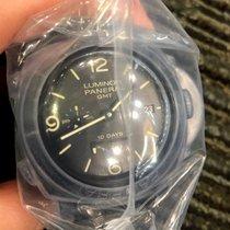 Panerai Luminor 1950 pre-owned 44mm Black Date GMT Rubber