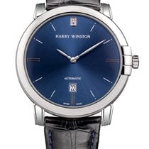 Harry Winston White gold 42mm Automatic MIDAHD42WW002 pre-owned
