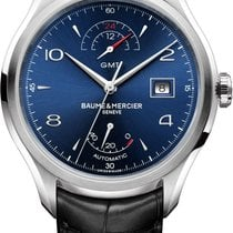 Baume & Mercier Clifton Steel 43mm Blue Arabic numerals United States of America, New York, Scarsdale