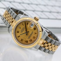 Rolex Tungsten Automatic Champagne Roman numerals 31mm pre-owned Lady-Datejust