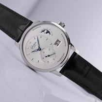 Glashütte Original PanoMaticLunar Steel 40mm Silver No numerals United States of America, New Jersey, Princeton