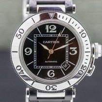 Cartier Pasha Seatimer Zeljezo 40.5mm Crn Arapski brojevi