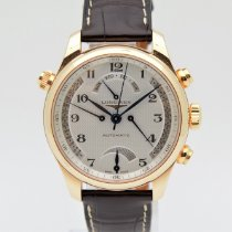 Longines Rose gold Automatic Silver pre-owned Master Collection