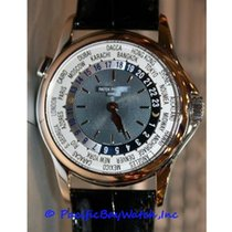 Patek Philippe Platinum Automatic Silver 37mm pre-owned World Time