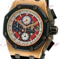 Audemars Piguet Red gold Automatic Red No numerals 42mm pre-owned Royal Oak Offshore