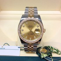 Rolex Datejust 36 116243 - Diamond Set - Box & Papers 2016