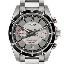 Tudor Grantour Chrono Fly-Back Steel 42mm Silver No numerals