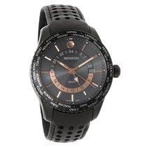 Movado Series 800 GMT Mens Black Dial Swiss Quartz Watch 2600118