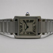 Cartier Tank Francaise Stainless Steel Ladies Quartz Watch...
